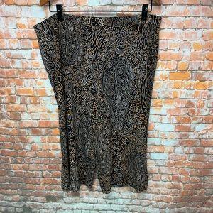 SUSAN GRAVER Women's Cropped Pants size XL # L191
